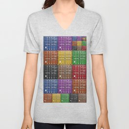 shipping container color box Unisex V-Neck