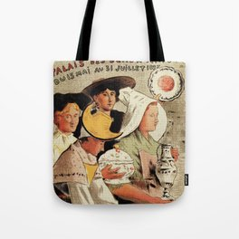 French belle epoque pottery expo advertising Tote Bag