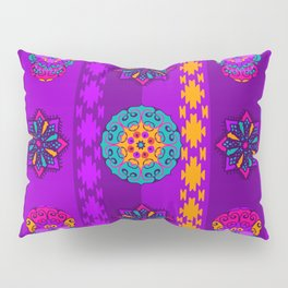 Fancy Colorful Mexico Inspired Pattern Pillow Sham