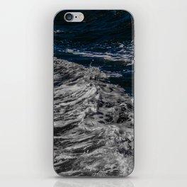 Snow Day - Sea foam on water in San Francisco iPhone Skin