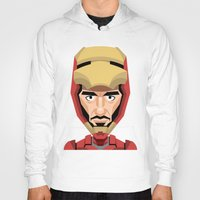 robert downey jr Hoodies featuring Robert Downey Jr, vector caricature by Kaexi