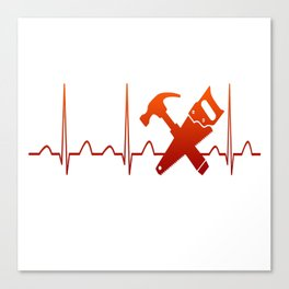 CARPENTER HEARTBEAT Canvas Print