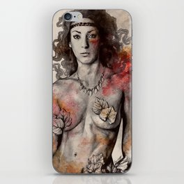 Colony Collapse Disorder (topless warrior woman with leaves on nude breasts) iPhone Skin