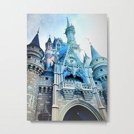 Castle in Light Metal Print