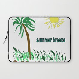 summer breeze minimal sketch Laptop Sleeve