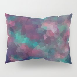 Abstract pattern blue raspberry and turquoise crystals . Pillow Sham