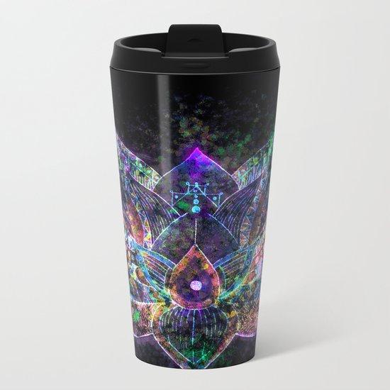 Lotus Flower Glow Metal Travel Mug