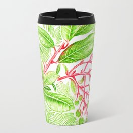 Branch of a Strawberry tree in Spring Travel Mug
