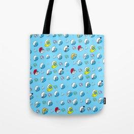 Smurfs Pattern Tote Bag