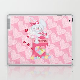Valentines Bunny and Sweet Heart Candy Laptop & iPad Skin