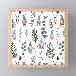 Gnome Pine Pattern Framed Mini Art Print