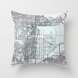 Scottsdale, AZ, USA, White, City, Map Throw Pillow