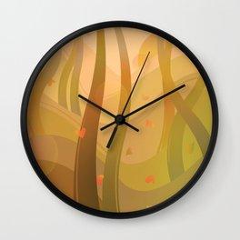Enchanting Autumn Forest Wall Clock