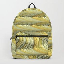 Green Gold Stripes Fractal Art Backpack