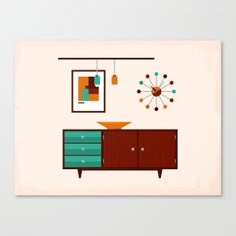 Mid-Century Modern Living - Sideboard Canvas Print