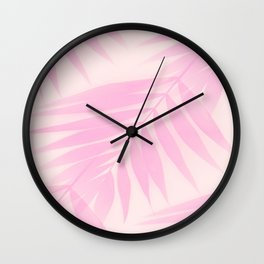 Palm Leaves in Pink Shades #Society6 #decor Wall Clock