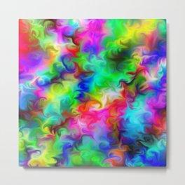 rainbow swirls Metal Print