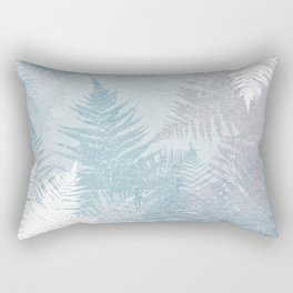 Fern Snowflakes - Taupe, Aqua & Blues Rectangular Pillow