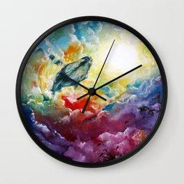 Majestic Whale Wall Clock