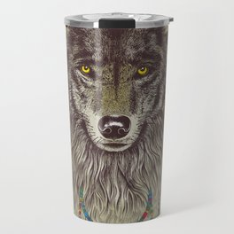 Wind Catcher Wolf Travel Mug