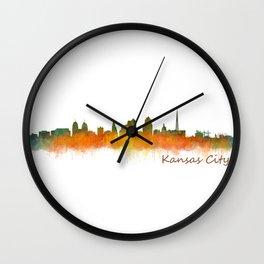 Kansas City Skyline Hq v2 Wall Clock