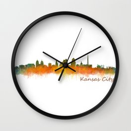 Kansas City Skyline Hq v2 Wall Clock