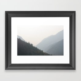canyon. Framed Art Print