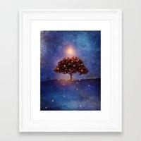 lights Framed Art Prints featuring Energy & lights by Viviana Gonzalez