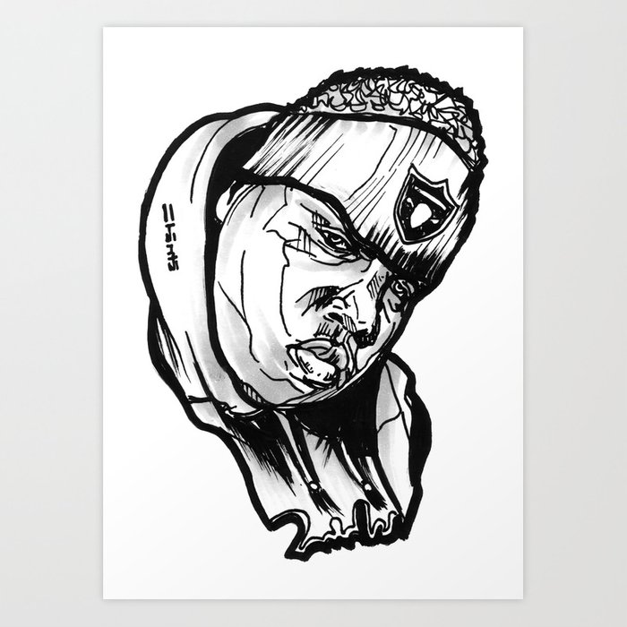 Biggie Smalls Notorious Raiders Art Print By Urbanart