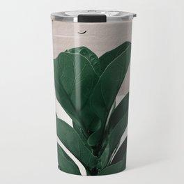 Fiddle Leaf Abstract - Naturelle #1 #minimal #wall #decor #art #society6 Travel Mug