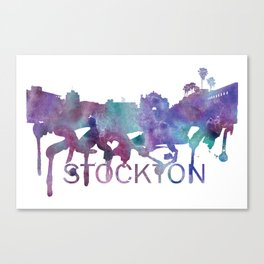 Stockton Art, Stockton Skyline, Stockton map, Stockton wall art, Stockton map print Canvas Print