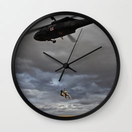 Suspended Between Worlds Wall Clock
