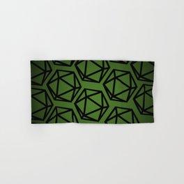 D20 Pattern - Green Black Hand & Bath Towel