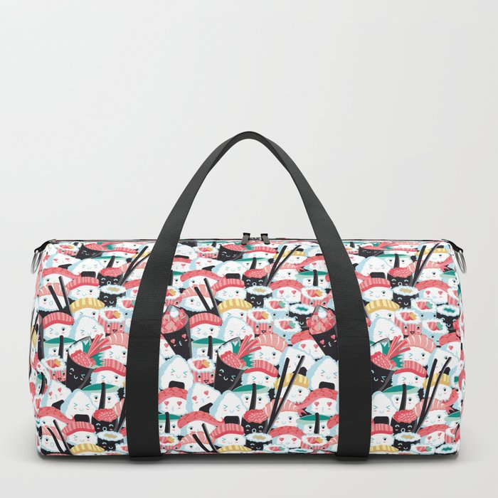 Kawaii Sushi Crowd Duffle Bag
