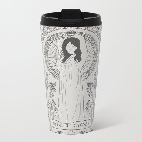 Reine des Cygnes (Grey) Metal Travel Mug