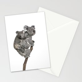 Mother Koala and her Baby Stationery Cards
