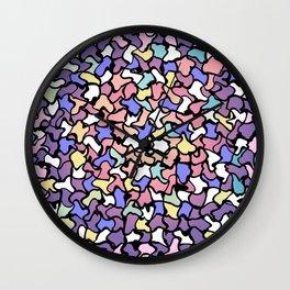 Wobbly Pastel Tone Tiles Wall Clock