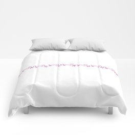Dachshund for Life - Purple / White Comforters