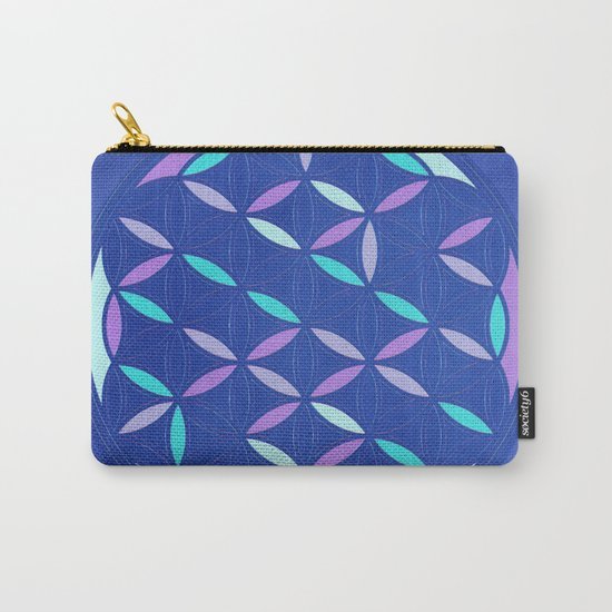 Flower of life 2017 blue Carry-All Pouch