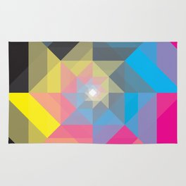 CMYK Triangles  Rug