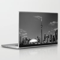 toronto Laptop & iPad Skins featuring Toronto Skyline by Christophe Chiozzi