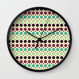 Peacock Polka Dot Pattern Wall Clock