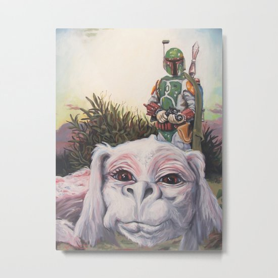 A Boy and His Dog Metal Print