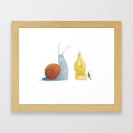 Sammy the Snail Framed Art Print