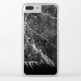 Black Gray Marble #1 #decor #art #society6 Clear iPhone Case