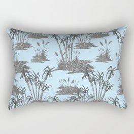Caribe Plis Kann Ble Monochromatic Rectangular Pillow