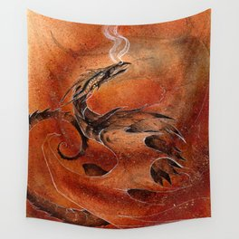 Sandstorm Dragon Wall Tapestry