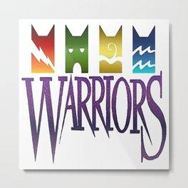 Warior Cat Metal Print