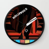 hollywood Wall Clocks featuring Hollywood by AndISky