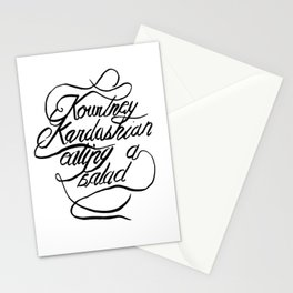 Kourtney Kardashian Eating A Salad Stationery Cards